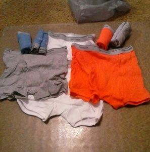 Boy's Boxer Briefs 8-pair Underwear Xl